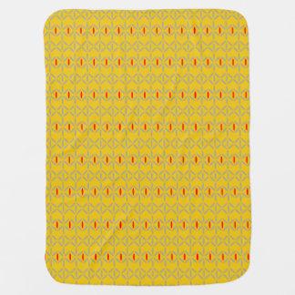 funky bold on mustard baby blanket