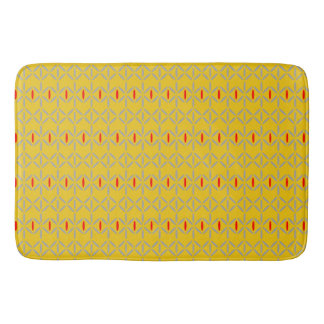 funky bold on mustard bathmat