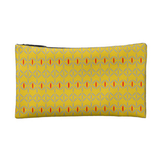 funky bold on mustard cosmetic purse