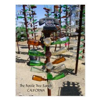 Funky Bottle Tree Ranch Postcard! Postcard