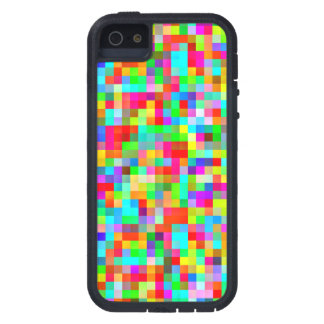 Funky Bright Colorful Pixels Mosaic iPhone 5 Covers