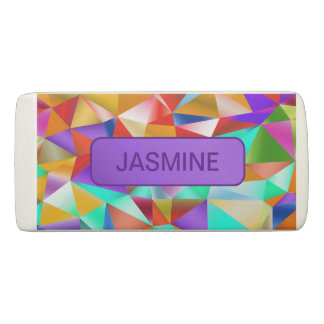 Funky Bright Geometric … Personalize Eraser
