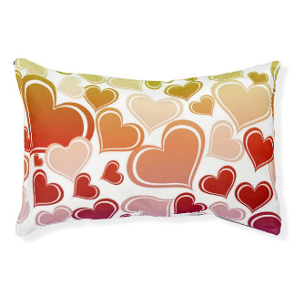 Funky Bright Hearts Pattern