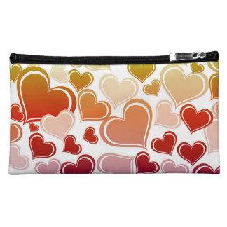 Funky Bright Hearts Pattern Cosmetic Bag
