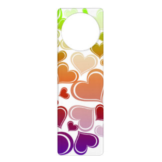 Funky Bright Hearts Pattern Door Hanger