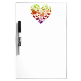 Funky Bright Hearts Pattern Dry Erase Board