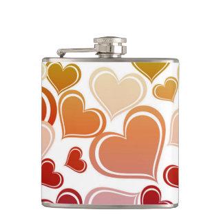 Funky Bright Hearts Pattern Flasks
