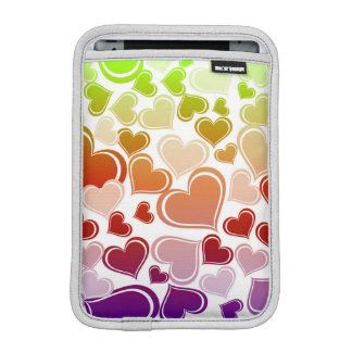 Funky Bright Hearts Pattern iPad Mini Sleeve