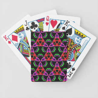 Funky Bright Neon Colors Seamless Pattern Bicycle Playing Cards