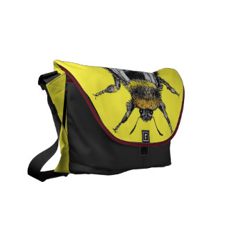 Funky Bumblebee Watercolour Bag Courier Bag