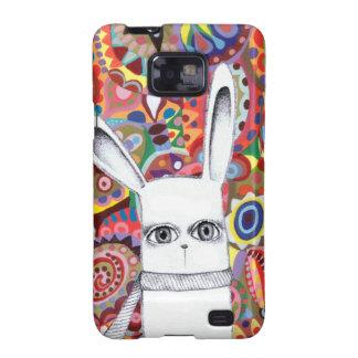 Funky Bunny Cute Colorful Samsung Galaxy S2 Case