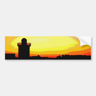 Funky Burryport sunrise, Burry port Bumper Sticker