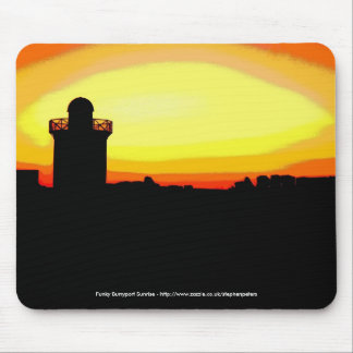 Funky Burryport sunrise Mouse Pad