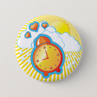 Funky Button with Alarm Clock