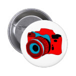 Funky camera graphic illustration button