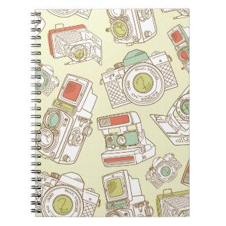 funky cameras notebook