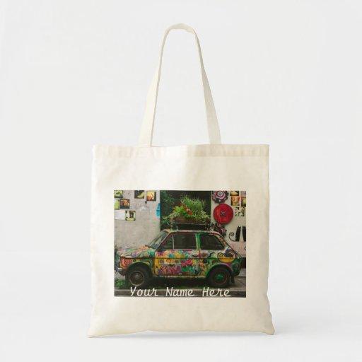 Funky Car Tote Bags