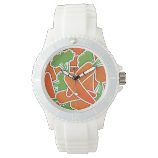 Funky carrot wrist watch