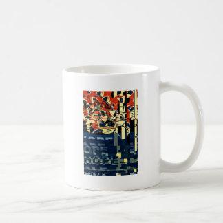 Funky Cat Abstract Coffee Mug