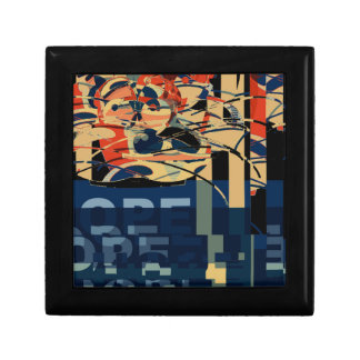 Funky Cat Abstract Gift Box