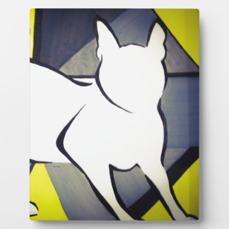 Funky Cat Plaque