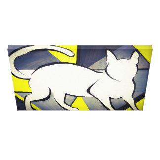 Funky Cat Watercolour Canvas Canvas Print