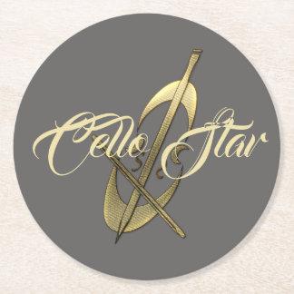 Funky Cello Star Musician Coaster