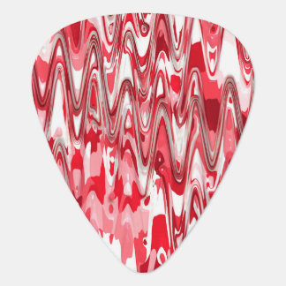 funky chevron red (C) Guitar Pick