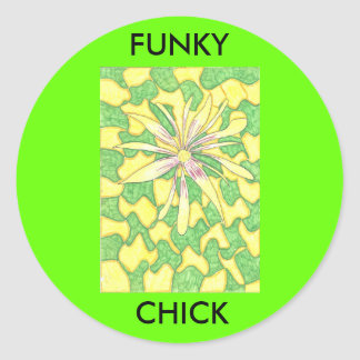 Funky Chick sticker