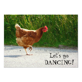 Funky Chicken - Let's Go Dancing! Card