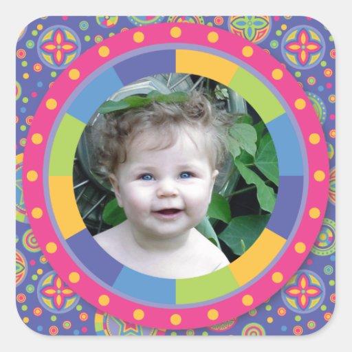 Funky Circle frame - Disco! on pattern Sticker