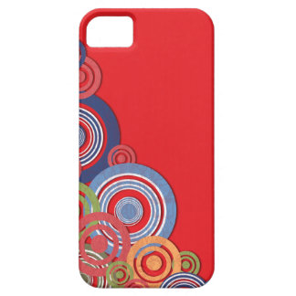 Funky Circles on Red iPhone 5 Case