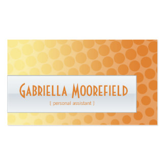 Funky Citrus Personal Assistant Business Cards