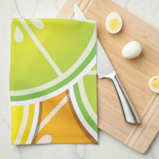 Funky citrus wedges kitchen towels