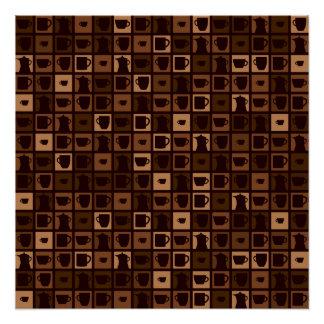 Funky coffee mosaic