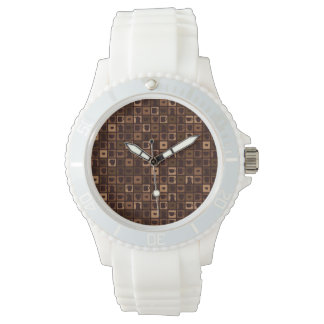 Funky coffee mosaic watch