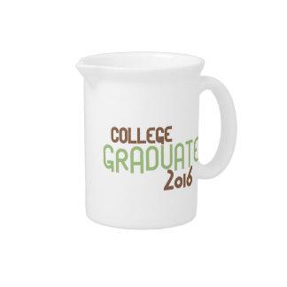 Funky College Graduate 2016 (Green) Pitchers