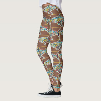 Funky Colored Shark Pattern Leggings