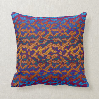 Funky Colorful Abstact Throw Pillow