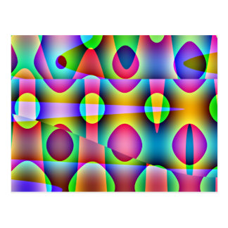 Funky Colorful Abstract Postcard