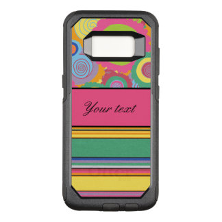 Funky Colorful Flowers and Stripes OtterBox Commuter Samsung Galaxy S8 Case