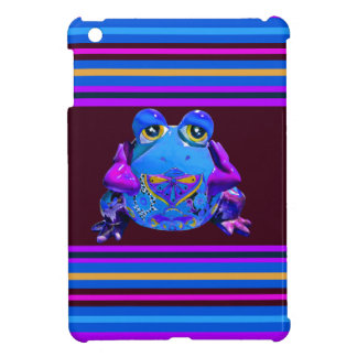 Funky Colorful Frog Blue Purple Funny Gifts Cover For The iPad Mini