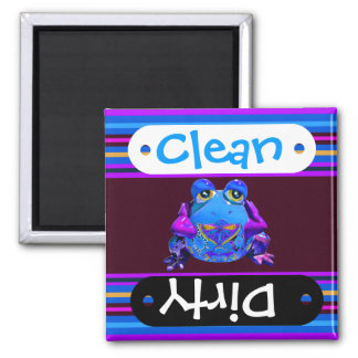 Funky Colorful Frog Blue Purple Funny Gifts Refrigerator Magnets