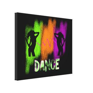Funky Colorful Modern Pop Art Dance Theme Canvas Print