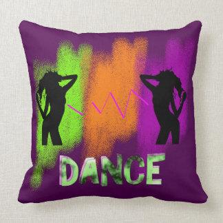 Funky Colorful Modern Pop Art Dance Theme Throw Pillow