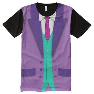 Funky Colors Suit Tie and Vest All-Over Print T-Shirt