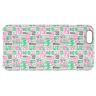 Funky Colourful Lines (Green & Pink) Clear iPhone 6 Plus Case