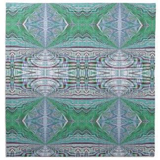 Funky Cool Blue Green Kaleidoscope Tribal Pattern Napkin