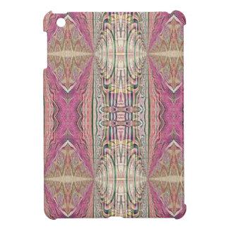 Funky Cool Tan Pink  FeminineTribal Pattern iPad Mini Cover
