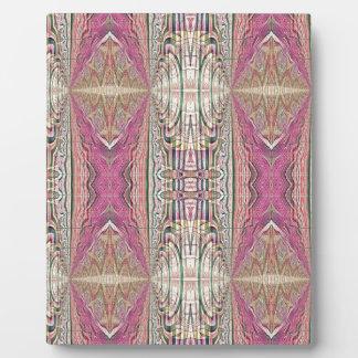 Funky Cool Tan Pink  FeminineTribal Pattern Plaque